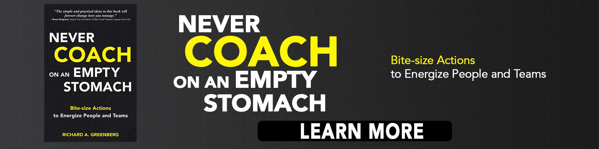 Never Coach On An Empty Stomach by Richard A Greenberg